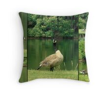 Geese At The Pond Throw Pillow