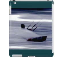 Kitesurfing - Riding the Waves in a Blur of Speed iPad Case/Skin