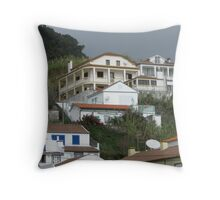 Which house is for sale? Throw Pillow