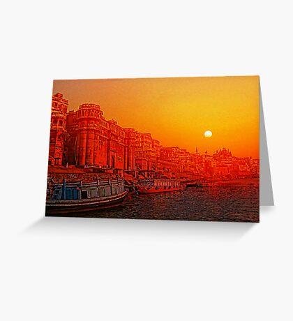 Varanasi, India. Greeting Card