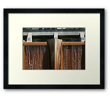 Rustic Water Fall Framed Print