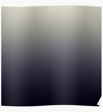 Trendy Black Ombre Gradient Poster