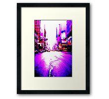 Broadway NYC Framed Print