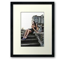 Mary- Staircase Framed Print