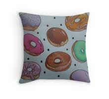 Doh-nuts Throw Pillow