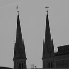 Twin Steeples by D.M. Mucha