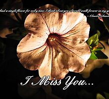 I Miss You... by Greeting Cards by Tracy DeVore