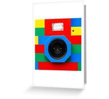 Lego Camera Greeting Card