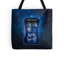 Space And Time traveller Wolf Tote Bag