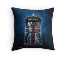 British Union Jack Space And Time traveller Throw Pillow