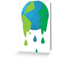 Wet Blue Planet Greeting Card