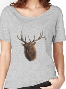 Elk Charging Women's Relaxed Fit T-Shirt