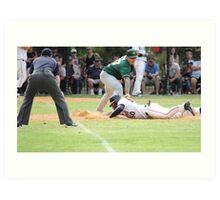 Baseball playoff tag Art Print