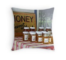 Honey for Sale Throw Pillow