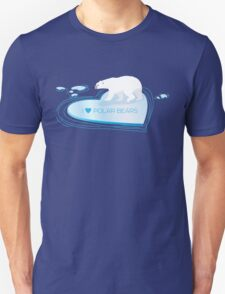 Love Polar Bears - ice heart Unisex T-Shirt