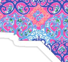 North Carolina Lilly Pilitzer Sticker