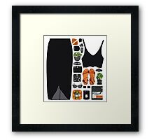 Fashion Collage Framed Print