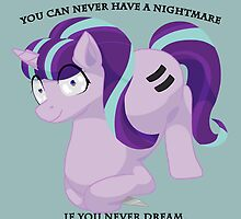 """You can never have a nightmare if you never dream."" MLP inspired fanart by PixieWillow"