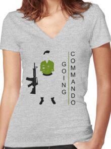 GOing COMmando Women's Fitted V-Neck T-Shirt