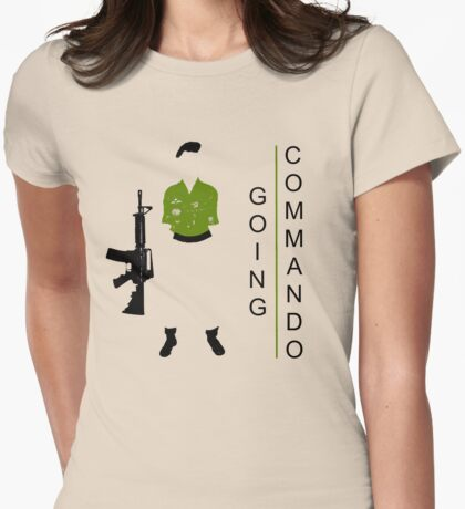 GOing COMmando Womens Fitted T-Shirt