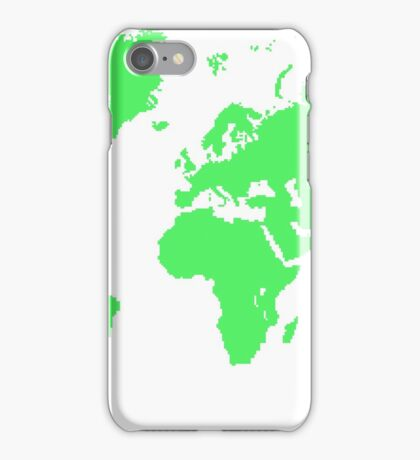 Pixel Map of the world iPhone Case/Skin