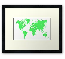 Pixel Map of the world Framed Print