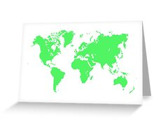 Pixel Map of the world Greeting Card
