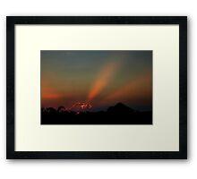West Australian Sunset Framed Print