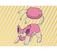 Cutie skitty Pokemon  Photographic Print