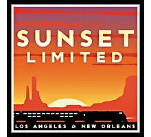 Sunset Limited Vintage Rail Travel Photographic Print