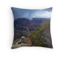 Storm Over South Rim Throw Pillow