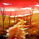 Red Skies - Landscape by  Linda Callaghan