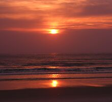 Sunrise at the ocean by GnarlyKarly