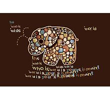 The Whole Wide World is your Elephant Photographic Print