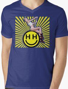 Happy Hippie Foundation Logo [Sunbeam] Mens V-Neck T-Shirt