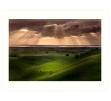 The Lightshow - Red Rock Colac Art Print