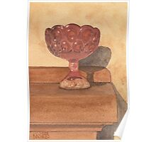 Red Glass Chalice Poster