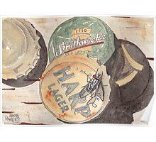 Bottlecaps and Barflies Poster