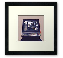 TV HEAD VINTAGE Framed Print