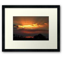 Rays Of Sunshine.  Framed Print