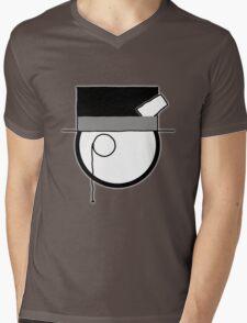 Cartoon Face 4 - Monocled Toff [Big] Mens V-Neck T-Shirt