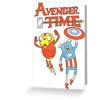 Adventure Time Avenger Greeting Card