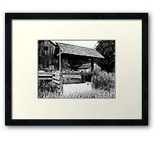 Empty in Black & White Framed Print