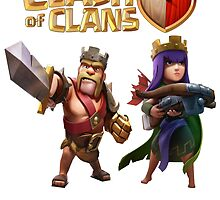 Clash of Clan King and Queen by Hit Seller