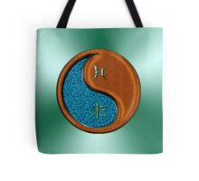 Pisces & Goat Yin Wood Tote Bag