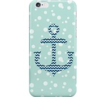 Chevron Nautical Anchor Bubbles Pattern iPhone Case/Skin