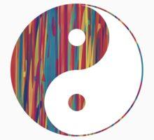 Colorful Drip Yin Yang by adjsr