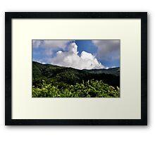Hong Kong Mountain Landscape Framed Print