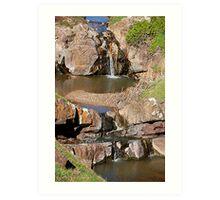 Waterfall, Hallett Cove Conservation Park. Art Print