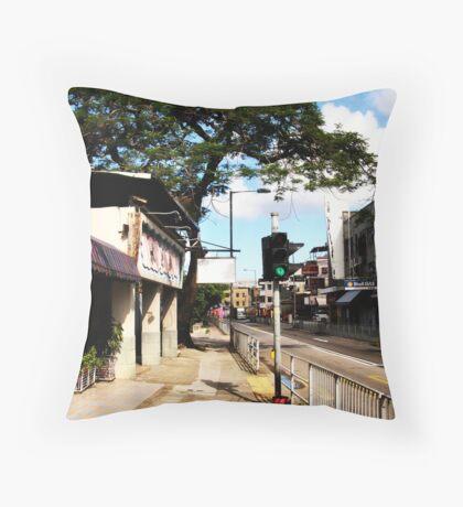 An old Hong Kong Street Throw Pillow